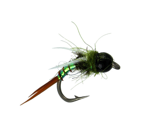 Bead Head Maylar Prince Nymph, Discount Trout Flies, Prince Nymph Variation, Dryflyonline.com