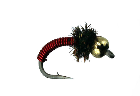 Bead Head Brassie Red,Dryflyonline.com,Wholesale Trout Flies,Discount Flies