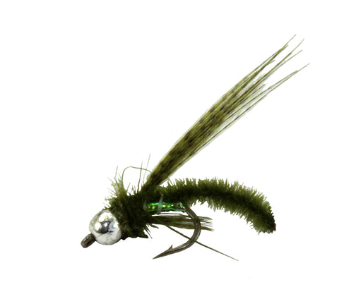 Caddis Poopah Olive Bead Head Dryflyonline.com Discount Wholesale Trout Flies