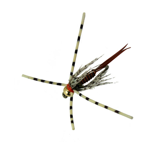 Copper John Orange Steelhead Fly,Wholesale Trout Flies, Disocunt Trout Flies