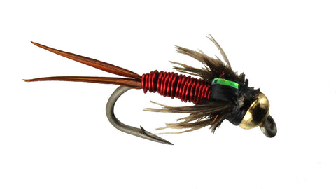 Copper John Bead Head in Red Wholesale Discount Flies
