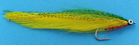 Deceiver Fly Green and Yellow,Discount Saltwater Flies for Fly Fishing,Florida Saltwater Flies