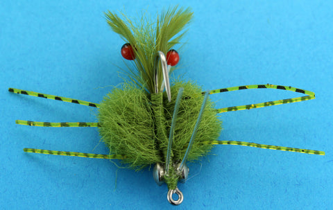 Defiant Crab Olive, Olive Crab for Saltwater Fly Fishing,Discount Saltwater Flies,Samaki Flies