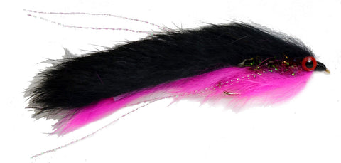 Double Bunny Pink Black Salmon Fly