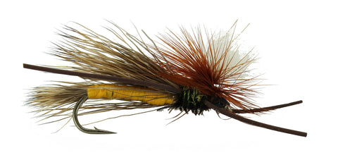 Madam X PMX Yellow Parachute Fly,Discount, Wholesale Trout Flies, Dryflyonline.com