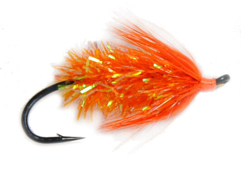 Metal Detector Orange,Salmon Fly,Discount Salmon Flies for Fly Fishing