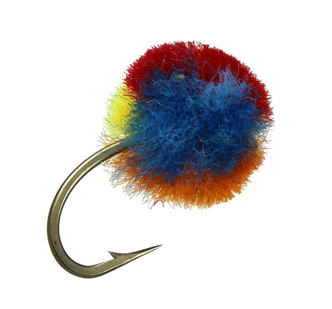 Multi Colored Egg,Clown Egg, Discount Trout Flies, Cheap Trout Flies, dryflyonline.com