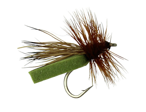 Puterbaugh Caddis Dry Fly Olive, Wholesale Discount Trout Flies, Dryflyonline.com