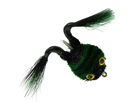Green and Black Frog Pattern,Discount Trout and Bass Flies
