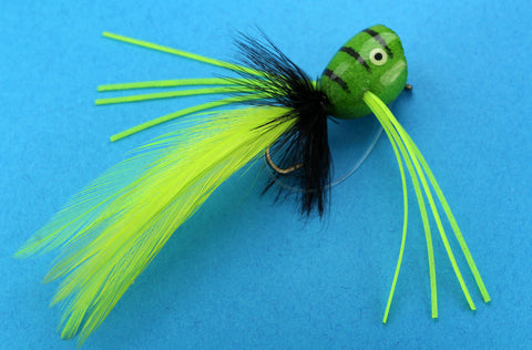 Samaki Flies Green Frog Popper