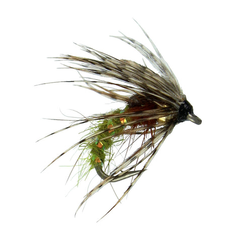 Holy Grail Caddis Fly Nymph, Emerger Nymph in Olive, Cheap Trout Flies, Dryflyonline.com