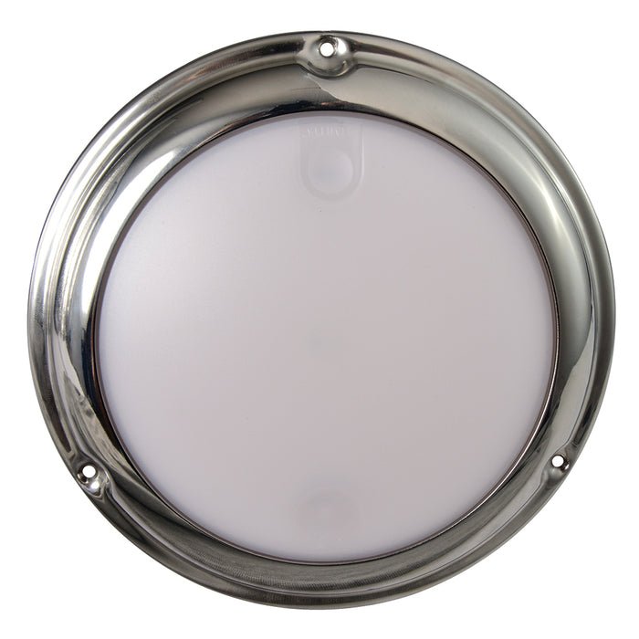 Lumitec TouchDome - Dome Light - Polished SS Finish - 2-Color White-Red Dimming