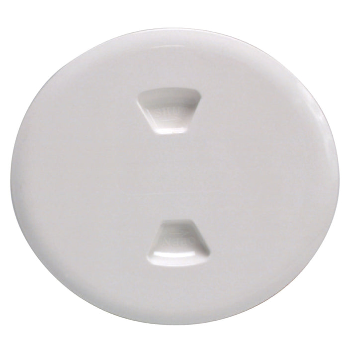 "Beckson 5"" Twist-Out Deck Plate - White"