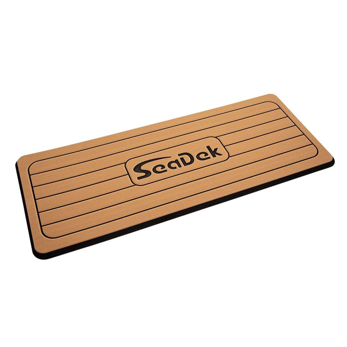 "SeaDek Faux Teak Helm Station Pad - 16"" x 39"" 13mm - Large - Faux Teak w-Black Laser SD Logo"