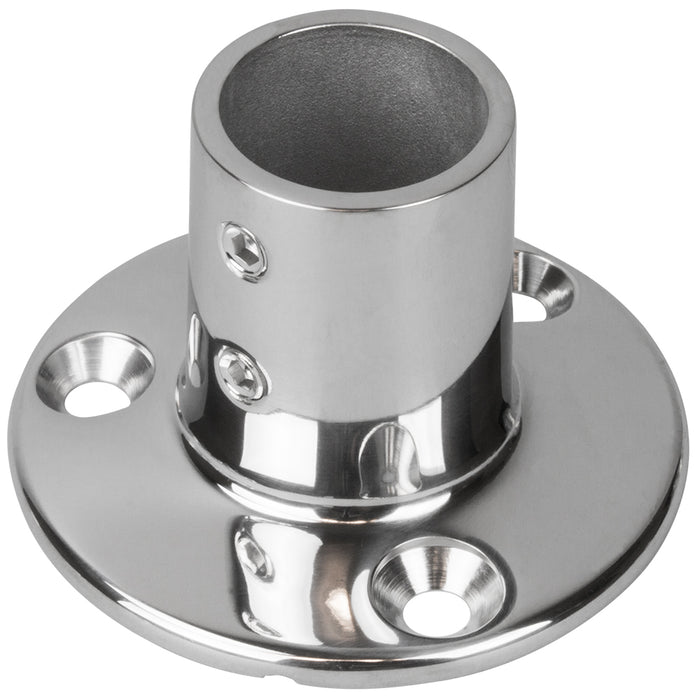 "Sea-Dog Rail Base Fitting 2-3-4"" Round Base 90° 316 Stainless Steel - 1"" OD"