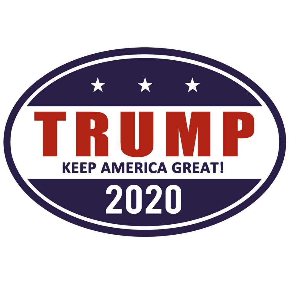 Trump 2020 Make America Great Oval Shaped Car Magnet Sale