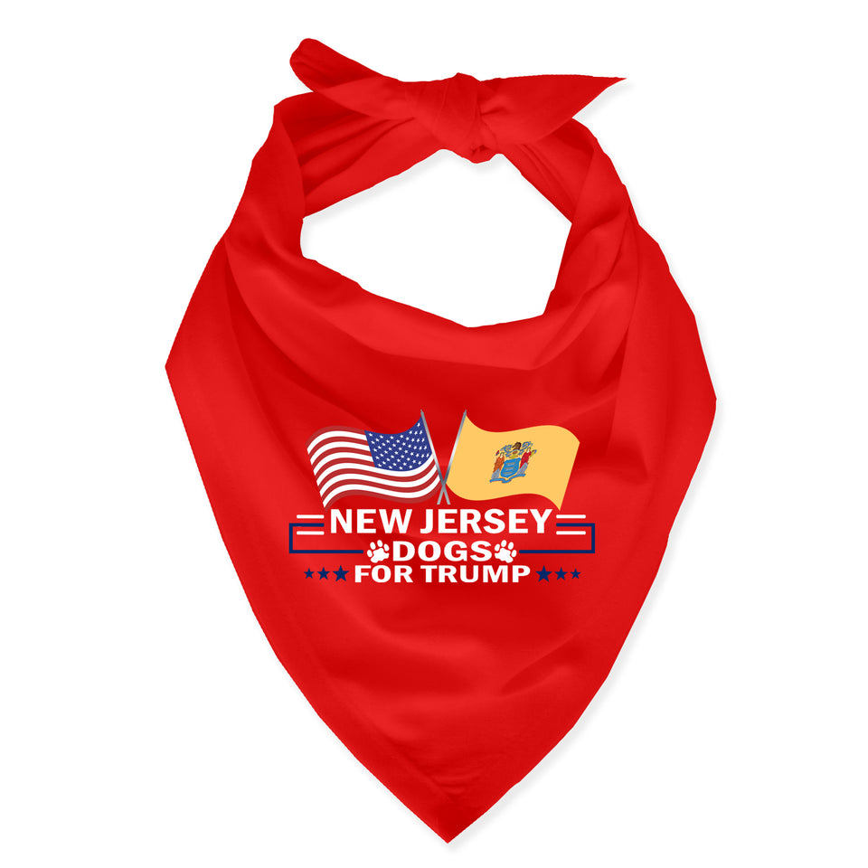 New Jersey For Trump Dog Bandana Limited Edition