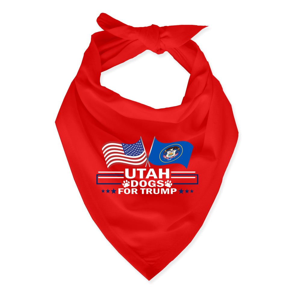 Utah For Trump Dog Bandana Limited Edition