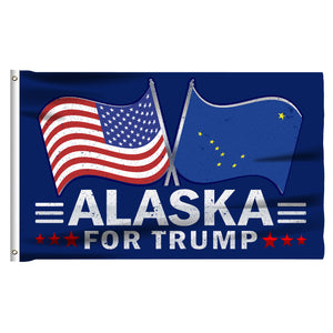 Alaska For Trump 3 x 5 Flag - Limited Edition Dual Flags