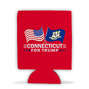 Connecticut For Trump Limited Edition Can Cooler