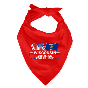 Wisconsin For Trump Dog Bandana Limited Edition