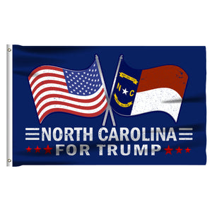 North Carolina For Trump 3 x 5 Flag - Limited Edition Dual Flags Sale