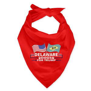 Delaware For Trump Dog Bandana Limited Edition
