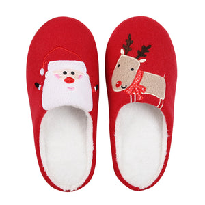 Christmas Slippers with Santa and Reindeer