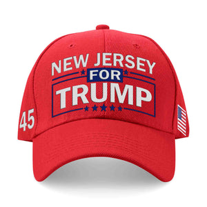 New Jersey For Trump Limited Edition Embroidered Hat