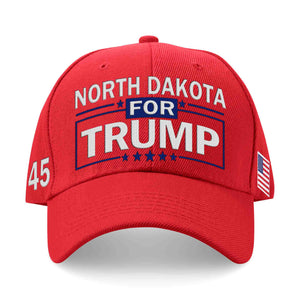 North Dakota For Trump Limited Edition Embroidered Hat