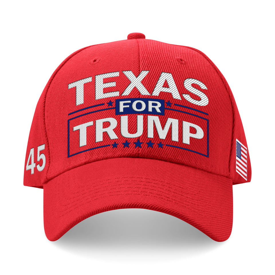 Texas For Trump Limited Edition Embroidered Hat SUPER Sale!