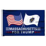Massachusetts For Trump 3 x 5 Flag - Limited Edition Dual Flags Sale