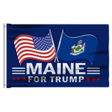 Maine For Trump 3 x 5 Flag - Limited Edition Dual Flags Lowest Price Ever!