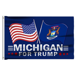 Michigan For Trump 3 x 5 Flag - Limited Edition Dual Flags