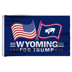 Wyoming For Trump 3 x 5 Flag - Limited Edition Dual Flags
