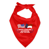 North Carolina For Trump Dog Bandana Limited Edition