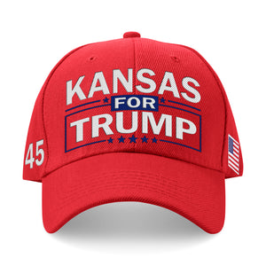 Kansas For Trump Limited Edition Embroidered Hat