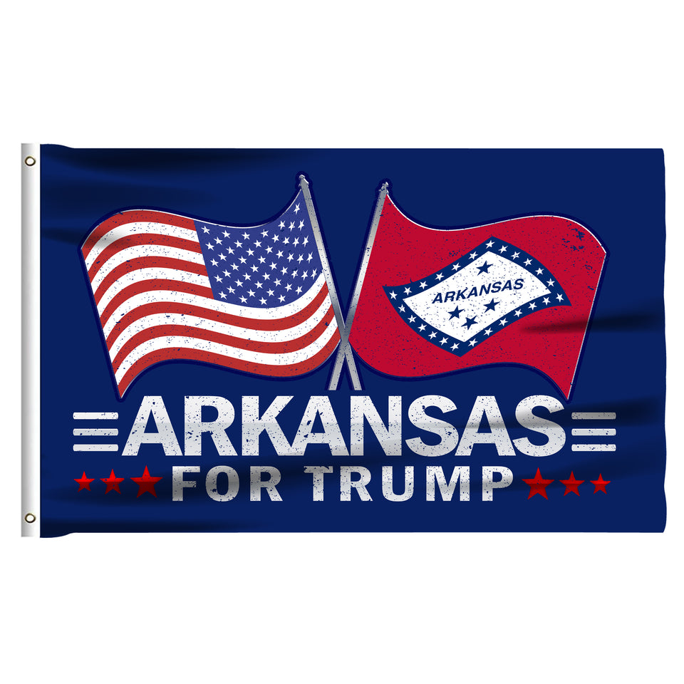 Arkansas For Trump 3 x 5 Flag - Limited Edition Dual Flags Sale