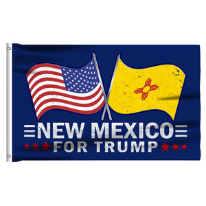 New Mexico For Trump 3 x 5 Flag - Limited Edition Dual Flags