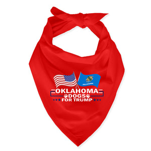Oklahoma For Trump Dog Bandana Limited Edition