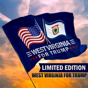 West Virginia For Trump 3 x 5 Flag - Limited Edition Dual Flags