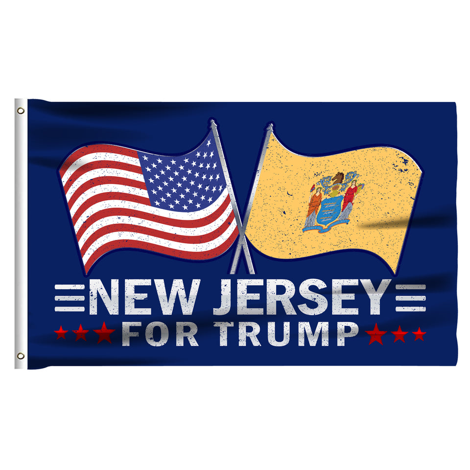 New Jersey For Trump 3 x 5 Flag - Limited Edition Dual Flags Sale