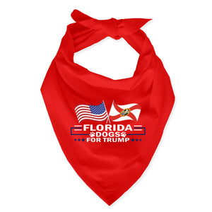 Florida For Trump Dog Bandana Limited Edition