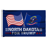 North Dakota For Trump 3 x 5 Flag - Limited Edition Dual Flags