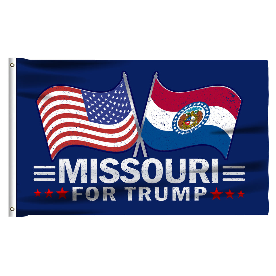 Missouri For Trump 3 x 5 Flag - Limited Edition Dual Flags