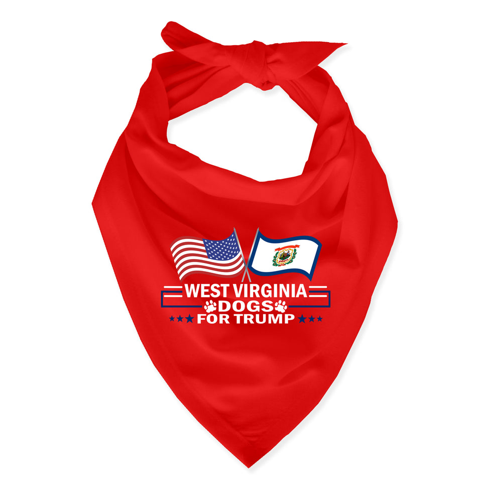 West Virginia For Trump Dog Bandana Limited Edition Sale