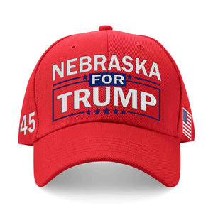 Nebraska For Trump Limited Edition Embroidered Hat Lowest Price Ever!