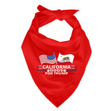 California For Trump Dog Bandana Limited Edition