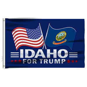 Idaho For Trump 3 x 5 Flag - Limited Edition Dual Flags