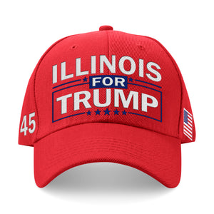 Illinois For Trump Limited Edition Embroidered Hat
